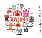 amusement park round design... | Shutterstock .eps vector #459447697