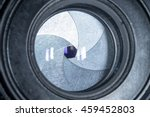 Small photo of lens aperture closeup and reflexes