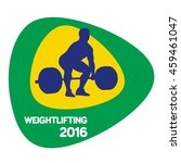 weightlifting icon  vector... | Shutterstock .eps vector #459461047
