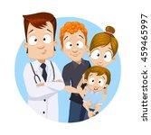 cartoon vector illustration of... | Shutterstock .eps vector #459465997