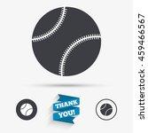 baseball ball sign icon. sport... | Shutterstock . vector #459466567