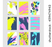 set of multicolor abstract... | Shutterstock .eps vector #459474943