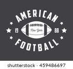 vintage rugby and american... | Shutterstock . vector #459486697