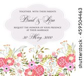 wedding card or invitation with ... | Shutterstock .eps vector #459504463