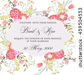 wedding card or invitation with ... | Shutterstock .eps vector #459504553