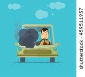 trendy flat design vehicle... | Shutterstock .eps vector #459511957