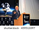 Small photo of HAIFA, ISRAEL JULY 26: Astronaut Dr. Edward (Buzz) Aldrin giving a talk during the Space Studies Program 2016 (SSP16) hosted by the Technion, Haifa, Israel, July 26, 2016
