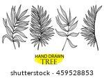 palm leaves . set of vector... | Shutterstock .eps vector #459528853