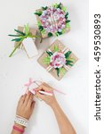 gifts in colorful festive... | Shutterstock . vector #459530893