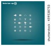 movie symbols vector set | Shutterstock .eps vector #459538753