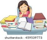 illustration of a little girl... | Shutterstock .eps vector #459539773