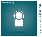 man with headphones vector icon | Shutterstock .eps vector #459541507
