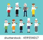 world cooker character vector... | Shutterstock .eps vector #459554017
