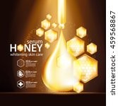 honey serum background concept... | Shutterstock .eps vector #459568867