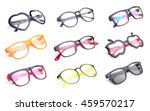 set of fashion eye glasses... | Shutterstock . vector #459570217