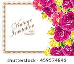 vintage delicate invitation... | Shutterstock .eps vector #459574843