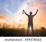 goal concept  silhouette human... | Shutterstock . vector #459578563