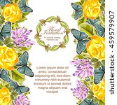 romantic invitation. wedding ...   Shutterstock .eps vector #459579907