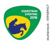 equestrian eventing icon  rio...   Shutterstock .eps vector #459589417