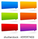 colorful rectangular speech... | Shutterstock .eps vector #459597403