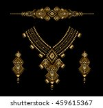 neckline with a gold... | Shutterstock .eps vector #459615367
