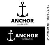 the anchor logo. anchor vector... | Shutterstock .eps vector #459621763