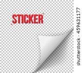 illustration of white  paper... | Shutterstock . vector #459631177