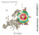 europe map in geometric... | Shutterstock .eps vector #459638017