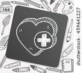 heart like doodle | Shutterstock .eps vector #459641227