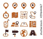 location  position icon set | Shutterstock .eps vector #459644467