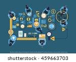 vector business ideas using...   Shutterstock .eps vector #459663703