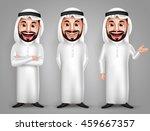 saudi arab man vector character ... | Shutterstock .eps vector #459667357