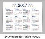 vector calendar for 2017 on... | Shutterstock .eps vector #459670423