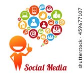 social media and networking...   Shutterstock . vector #459677107