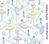 seamless pattern with dancing... | Shutterstock . vector #459679003