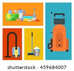 cleaning tools vector icon flat ... | Shutterstock .eps vector #459684007
