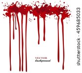 vector red ink stain  blots and ... | Shutterstock .eps vector #459685033
