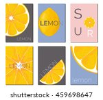 vector set of bright lemon... | Shutterstock .eps vector #459698647