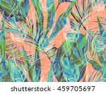 seamless tropical flower  plant ... | Shutterstock . vector #459705697