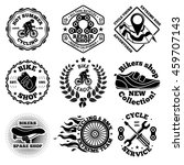 bicycle vector set of labels ... | Shutterstock .eps vector #459707143