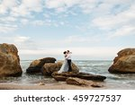 wedding. wedding by the sea.... | Shutterstock . vector #459727537