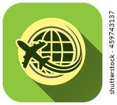 travel the world plane icon ...