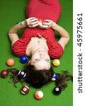 Beautiful Girl On A Billiards...