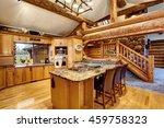 Log Cabin Kitchen Interior...