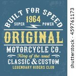 motorcycle typography  t shirt... | Shutterstock .eps vector #459761173