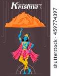 indian god krishna lifting...   Shutterstock .eps vector #459774397