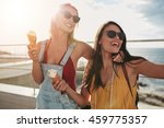 shot of two female friends... | Shutterstock . vector #459775357