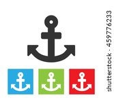 anchor icon. simple logo of...