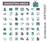marketing media icons | Shutterstock .eps vector #459792037