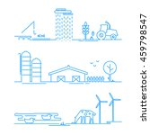 landscape rural icons in thin... | Shutterstock .eps vector #459798547